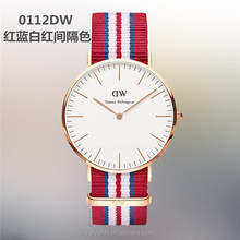 New products 2015 vogue fashion daniel wellington watch nylon strap