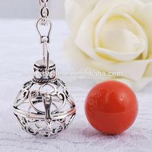 nice gaiolas chamador bola colar de cobre com prata banhado a angel chamador bola esfera pingentes 2014 merryshine h01a17