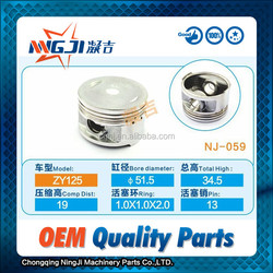 Motorcycle and Scooter Piston set for Yamaha ZY125 Scooter OEM Quality