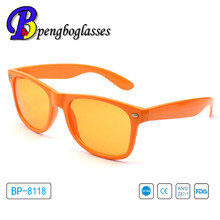 2015 Europe compliance plastic orange sunglasses