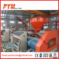 Two extruder plastic bottle recycling machine