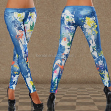 Hot sale quality best price wholesale jeans series printing women in leggings pics