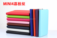 Multiple Colors For iPad Mini 4 Lichee Pattern Leather Case Cover With Stand Function