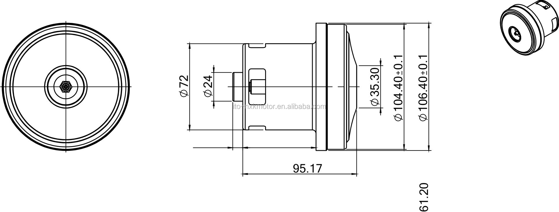 72mm 82mm Ac Dc Wet And Dry Brushless Motor For Vacuum Cleaner View Brushless Vacuum Cleaner