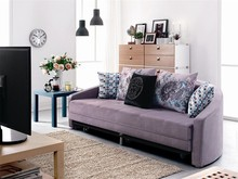 Special design Living room furniture Folding Velvet round folding sofa bed design