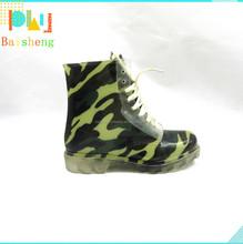 High Quality New Fashion PVC Camo Rain Boots