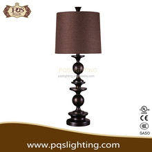popular in 2015 polyresin table lamp With brown lamp shade