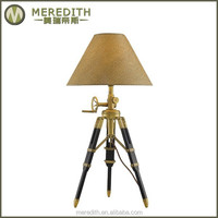 2014 Meredith USA Best selling hotel adjustable solid brass table lamp #1038