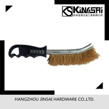 Copper coated steel wire brush