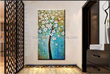 modern blue flower Landscape Oil Painting artist directly Hand Painted thick kinfe canvas Wall art home decor wall painting