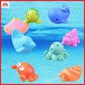 fábrica icti 2014 venta al por mayor de china 8 piezas de los animales del mar chorro de baño de bebé juguetes