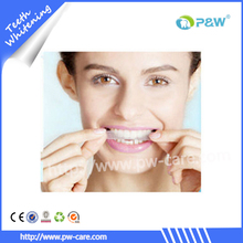Personal dental care non peroxide teeth whitening strips