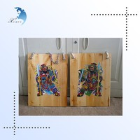 Screen printing glossy painting hanging advertising wood sign board