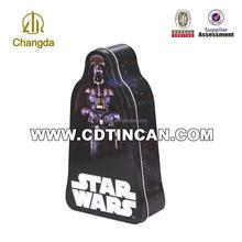 Promotional creative irregular star wars metal tin box toy box