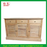 China Professional Manufacturer Oak Wood Antique Storage Cabinets RF112