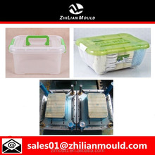 Different size Plastic Storage Box with wheels lid handle mould