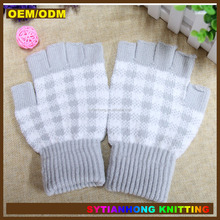 knitted Jacquard pattern kids gloves cotton hand gloves
