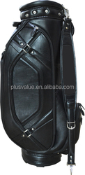 wholesale high quality custom handmade PU leather golf bag factory