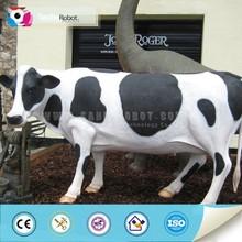 Attractive decoration fiberglass cow
