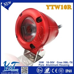 Y&T bike, mini , boat, fire engine, police car, military high brightness 10w new design motorcycle led flood light