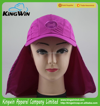 Sun Protection Cap / Polyester Sport Cap With Neck Guard / Anti-uv Upf 50+