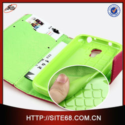 2014 New Arrival With Card Holder Wallet Style Leather Case For Samsung Galaxy S4 mini