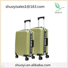 2015 Fashion Design and colorful Transparent clear super light Four wheels 100% Pure PC trolley luggage