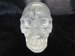 Clear Quartz Rock Crystal Skull white / Natural Quartz crystal Carving Skull / Hand Carved Crystal Skull Wholesale