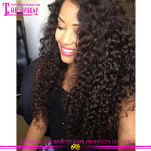 No tangle unprocessed virgin humen hair Peruvian curly hair extentions