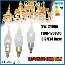 LED candle bulb light e12 base 3w,4w,5w 360degree c37 120v ce rohs ,LED Candle Lamp chandelier bulb e12