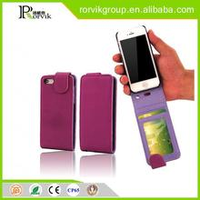 flip up and down leather mobile phone case with card slot for iphone4 for iphone 4S