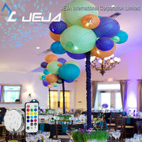Wedding Favor Decoration Waterproof Battery Power Remote Control Led Discs/Base