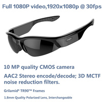 HD 1080P Sports Sunglasses Camera DVR@1920*1080P@30fps hd sunglasses camera 1080P Sunglasses Video Camera mobile Camcorders