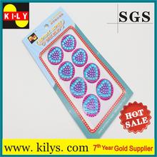 Promotional 720pcs Heart gift custom crystal sticker design macbook decoration