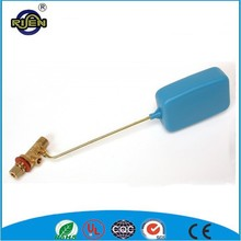 brass water tank floating ball valve with plastic ball