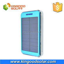 With mini LED flashlight dual USB portable 10000 mah solar charger for cellphones