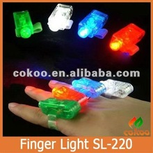Christmas gifts LED Bright Finger Ring Lights Rave Party Glow 4x Color kids toys hot sale on alibaba