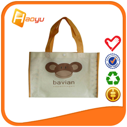 China supplier promotional recycle cheap eco bag with silk screen print