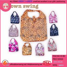 Printed Nylon Foldable reusable Shopping Bag/Japanese Design Foldable Shopping Bag Eco Bag/Premium Reusable Shopping Tote Bags