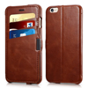 Vintage luxury ultra slim wallet flip folio stand PU leather case with card holders for iPhone 6 or 6 plus