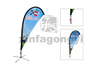 Teardrop flags wing banners water filled base flags