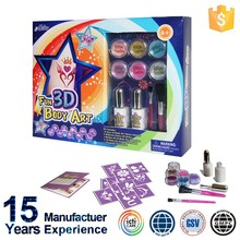 Body Art Glitter Tattoo Kit , Body Art Chinese , Body Art Pen