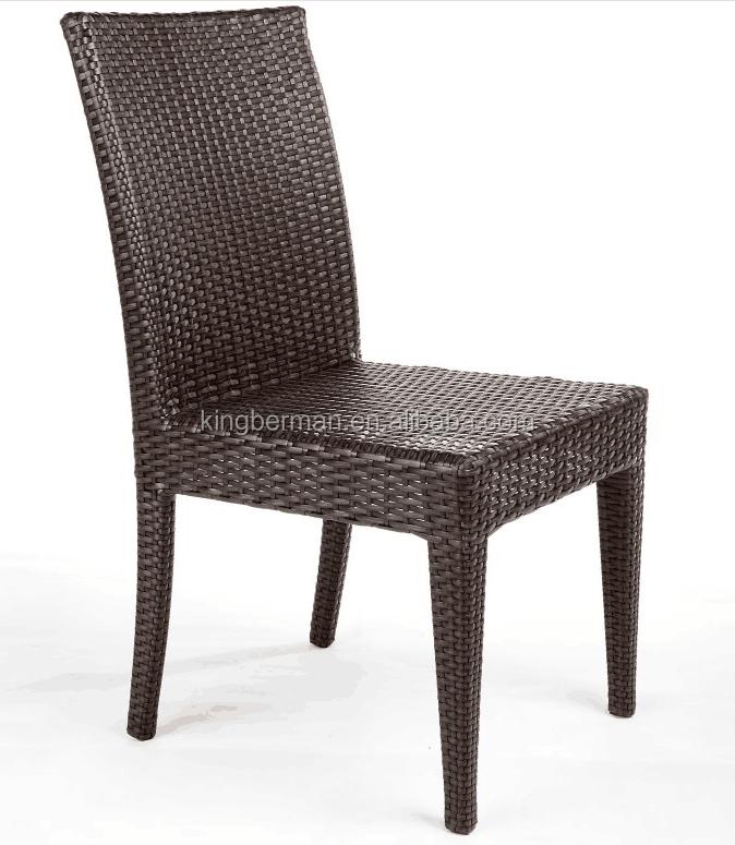 Mobilier d 39 ext rieur pour restaurant sans bras chaises en for Mobilier rotin exterieur
