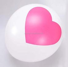 "10"" Standard pinrted love latex wedding balloons"