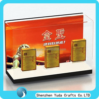 Wholesale counter top lucite cigarette display case in high quality