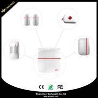 Hot-selling iOS/Android Apps Supported Smart Home 433MHz WIFI GSM Security Alarm System