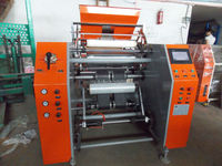 High Speed small stretch film roll slitter rewinder machinery