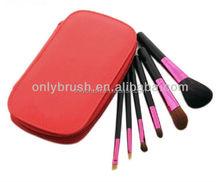 6 Pc. Travel Brush Set Kit Case Makeup Brushes, Brand New.