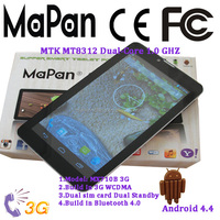 android 4.4 os low cost cheap 3g city call tablet pc mobile phone with the function of gps wifi
