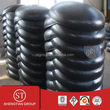 Good quality seamless big size carbon steel pipe fitting cap